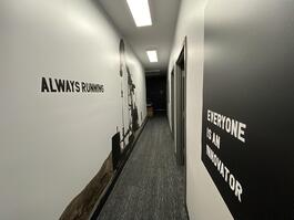 Engineering hallway vinyls